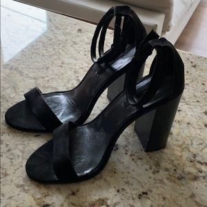 Zara black open toe heels size 40